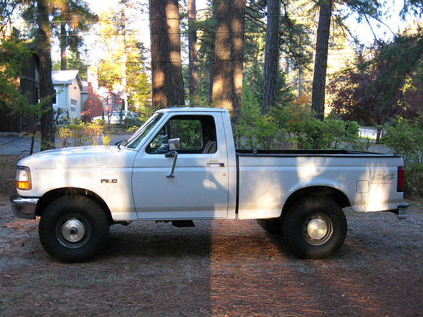 1996 f150, 4.9l, 5sp. I put 33/9.50/15 on the stock 6 inch wide rims,
